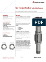DTA-XB Dynamic Torque Anchor with Extra Bypass Technical Datasheet