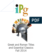 Fall 2014 IPG Greek and Roman Titles and Essential Classics