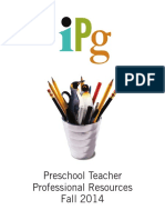Fall 2014 IPG Preschool Teacher Professional Resources