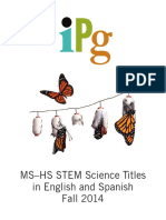 Fall 2014 IPG MS-HS STEM Science Titles in English and Spanish