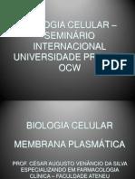 Professor César Augusto Venâncio Da Silva II MEMBRANA PLASMÁTICA