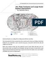 our changing earth  plate tectonics and large-scale system interactions   readworks