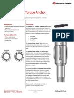 DTA - Dynamic Torque Anchor Technical Datasheet