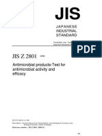 Antimicrobial Products-Test for Antimicrobial Activity and Efficacy