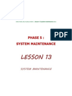 Lesson 13 System Maintenance