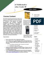 math 10fpc course outline 2014