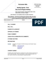 Rochester Hills City Council agenda Sept. 22, 2014