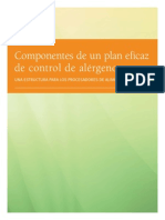 Componentes de Un Plan Eficaz de Control de Alergenos