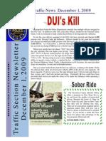 Traffic News December 1, 2009