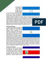 Bandera de Honduras, Nicaragua, Costa Rica y Panamá