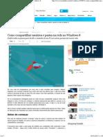 Compartilhar Usuários e Pastas Na Rede No Windows 8