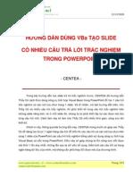 Huong Dan Tao 1slide Gom Nhieu Cau Hoi Trac Nghiem