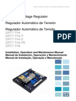 WEG Regulador Automatico de Tension Grt7 Th4 10040217 Manual Espanol