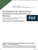 Compartilhamento Computadores Em Rede Doméstica Executando Versões Diferentes Do Windows