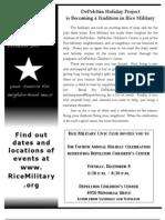 Rice Military News December 2009