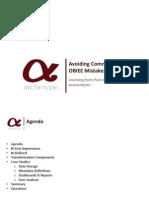 common errors in obiee