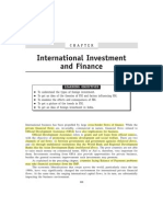 International Investment and Finance