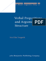 Mai Ellin Tungseth - Verbal Prepositions and Arguments