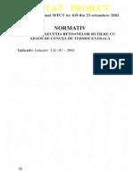 CD 147 - 2002 - Ex Bet Rutiere Cu Adaos de Cenusa de Termocentrala