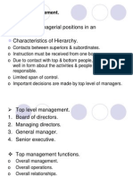 Different Levels in Management