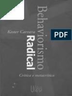 Behaviorismo Radical Critica e Metacritica Carrara k