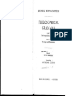 Ludwig Wittgenstein - Philosophical Grammar