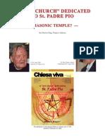 Chiesa Viva - Freemasonry Temple to Padre Pio