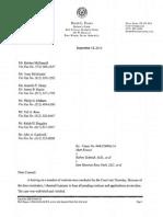 David Evans Ruling Letter