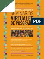 Convocatoria Seleccion de Seminarios Virtuales de Posgrados 2015