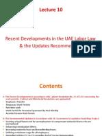 10 Recent Developments in Employment Law