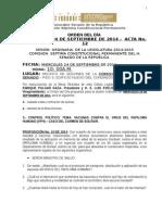 14. ORDEN DEL DIA  CORREGIDO PARA EL MIERCOLES 24 DE SEPTIEMBRE DE 2014 - Acta 12.doc