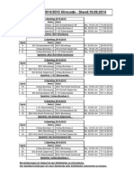 Spielplan 2014-2015 - Stand 19.09.2014 - Hinrunde