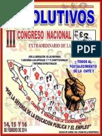 Resolutivos III Congreso Nacional Extraordinario Cnte