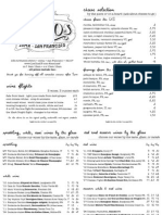 Les Clos Opening Menu, October 2014