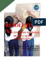 Resolutivos Vi Congreso Nacional de Educación Alternativa Cnte