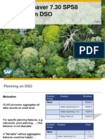 SAP NetWeaver 7.30 SPS8 - Planning on DSO