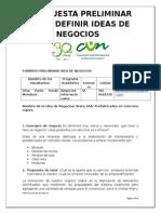 Propuesta Preliminar Para Definir Ideas de Negocios