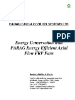 Energy Conservation With Parag High Efficiency FRP Fans