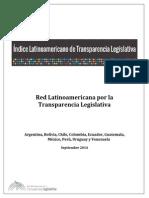 Indice Latinoamericano de Trasparencia Legislativa 2014