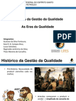 Histórico Da Gestão Da Qualidade e as Eras Da Qualidade