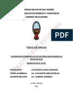 t.g.valoracion de La Economia Delos Factores Rlacionados Al Reciclaje en El Alto