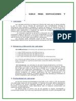 Calicatas, Ubicacion, Profundidad, Distancia y Muestreo (1)