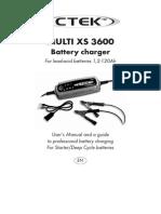 CTEK Multi XS3600 Manual