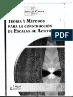 TEORiA y Metodos en La Construccion de Escalas Nuria Cortada - Nuria Cortada