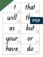4 Sight Word Flashcards