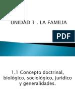 Unidad 1 La Familia
