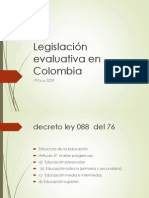 Legislación Evaluativa en Colombia