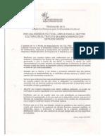 Declaración COA sobre reserva cultural - 2005