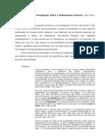 Ficha Investigacao Sobre o Entendimento Humano