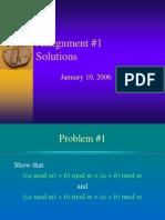 Asmt1 Solutions
